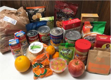 Photo shows that GCFP Gunni-Packs contain easy to prepare, kid friendly food.